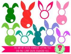 Easter Bunny Rabbit SVG / DXF Cutting Files For Cricut Explore / Silhouette Cameo & PNG Clipart, Digital Download, Commercial Use Ok by DigitalGems on Etsy