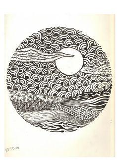 zentangle | My daughter, Elise, is very artistic and inspiring. Her art teacher ...