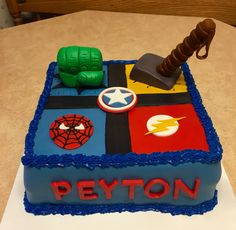 Super Hero cake!