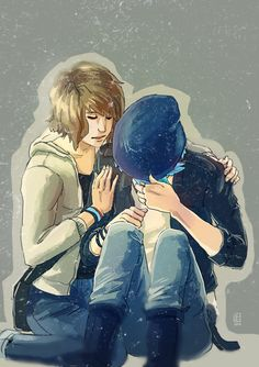 Life is Strange - Max and Chloe hug by Maarika Life Is Strange Fanart, Life Is Strange 3, Posi, Dontnod Entertainment, Max And Chloe, Baby Owls, Weird Art, Cute Anime Couples, Emoticon