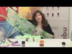How to paint a silk sarong easily. Cómo pintar fácilmente un pareo de seda - YouTube