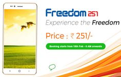 Freedom 251 3G Mobile Phone Rs.251 under make in india