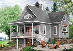 In an attempt to enhance the quality of construction with regards to energy efficiency and economy, this design takes a new and innovative approach to ecologically and ergonomically designed house plans that include pertinent details on how to achieve an Environmentally Superior home or chalet.