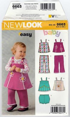 Baby Girl Jumper Babies Pants and Panties Sewing Pattern