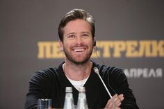 Armie at the press conference for #FreeFire at the Ritz-Carlton Hotel in Moscow, Russia, on April 10th. Credits: http://www.womanhit.ru/photo/akter-armi-hammer-v-moskve/