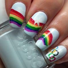 olympic by mllrdesign #nail #nails #nailart
