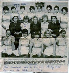 Student nurses late 60's early 70's Wigan