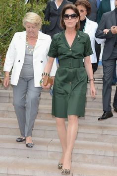 Princess Caroline of Hanover attends the International 'Concours de Bouquets' Opening on May 2012 in Monaco, Monaco. Get premium, high resolution news photos at Getty Images Monaco Princess, Princess Caroline Of Monaco, Royal Fashion, I Love Fashion, Diana, Monaco Royal Family, Royal Look, Queen Dress, Great Women