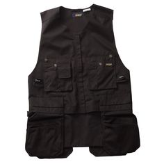 Blaklader 3110 Kangaroo Vest - Black - Made from the same heavy-duty, polyester-cotton material as Heavy Workers, you won't find a tougher vest than the Roughneck Kangaroo. This vest includes hanging utility pockets and hanging chest pockets to keep even weight distribution on the body. Even on the toughest job site, the Roughneck Kangaroo vest is made for tradesmen who work hard and work smart. | FullSource.com