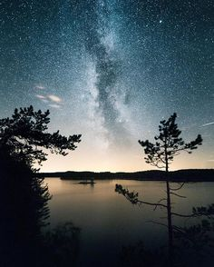 Milkyway above Repovesi national park, Finland. By esagraphy Archipelago, What Is Like, Cool Places To Visit, Finland, National Parks, Earth, Sunset, World, Pictures