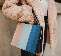 Striped bag, blush p