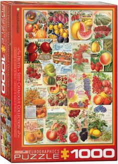 Fruit Seed Catalogue - 1000pc jigsaw puzzle