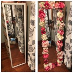 Decorate Your Bedroom Mirror with Faux Flowers is part of Diy floral mirror This is such an awesome way to add some color and vibrancy to your bedroom and it only takes a few supplies and about one -