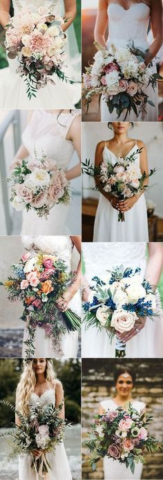 Stunning wedding bouquets perfect for 2018 weddings #weddings #weddingflowers #weddingbouquets #flowers #inspiration
