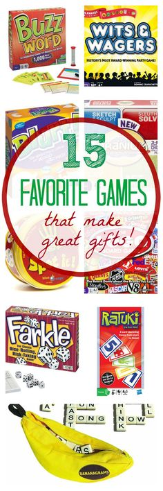 15 Favorite Games for Game Night-These make GREAT gifts for Christmas