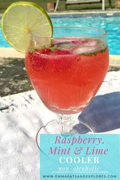 Raspberry Mint Lime Cooler by Emma Eats & Explores - Grainfree, Glutenfree, Dairyfree, Regined Sugarfree, Paleo, SCD, Raw, Low Carb, Whole30, Vegan, Vegetarian