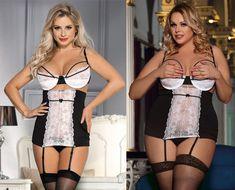 Plus Size Women/'s Lingerie Lace Garter Belt Suspender 2 piece  12 14 16 18 20 22