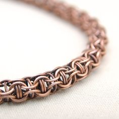 Copper necklace copper gifts chain maille jewellery by Verha