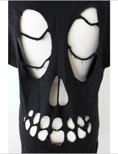 skull shirt cut