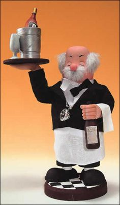 12 Zims Heirloom Collectibles The Wine Waiter Christmas Nutcracker 30931855 | ChristmasCentral