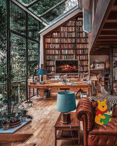 Home Library Design, House Design, Interior Decorating, Interior Design, Bohemian Decor, My Dream Home, Home Decor Inspiration, Decoration, Beautiful Homes