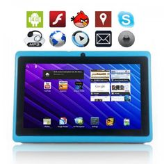"""4GB 7"""" Google Android 4.0 Tablet PC Multi Touch Screen Wifi Camera Light Blue MID"""