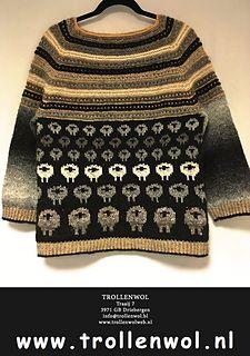 Ravelry: Honest sheep project pattern by Marja de Haan - Trollenwol FREE Knitting Designs, Knitting Patterns Free, Free Knitting, Crochet Cardigan, Knit Crochet, Crochet Sweaters, Sheep, Men Sweater, Pullover