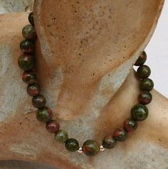 #Unakite #Bracelet by anncarrolldesign on Etsy, $15.00 Unakite is used by Healers to release native energy and bring serenity. This a stone I wear often in stressful situations to help me stay calm. Please stop by and take a look. Thanks for your interest...Ann