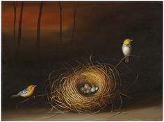 Nest and Two Birds