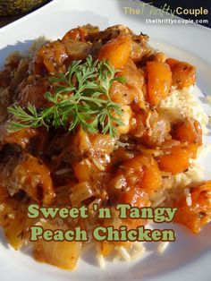 A perfect blend of sweet and savory make this tangy peachy chicken concoction that is a taste bud pleaser! It is easy and so tasty. Perfect recipe for peach season!