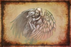 tattoo ideas mother and child | Angel Child Tattoo 11 months ago in Fantasy