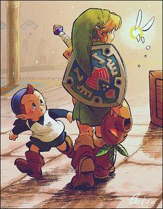 Majora's Mask // Link and Tatl The Legend Of Zelda, Legend Of Zelda Breath, Breath Of The Wild, Super Manga, A Silent Voice, Link Zelda, Twilight Princess, Link Art, Game Character