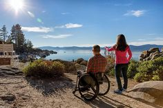 Outdoor Recreation for All. Lake Tahoe, Nevada.