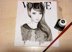 vogue cover, ink, i love fashion