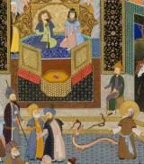 What Were the 10 Plagues in the Bible?: Moses in front of Pharaoh by Haydar Hatemi, Persian Artist.