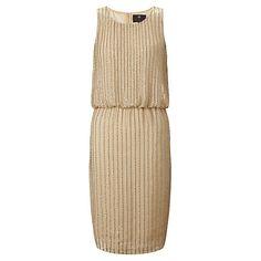 Buy Ariella Rebecca Sequin Shift Dress, Gold Online at johnlewis.com