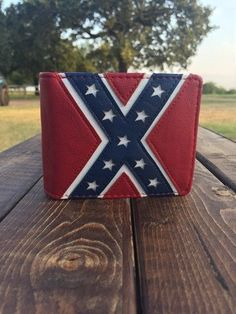 Rebel Flag Bi-Fold Leather Wallet