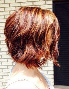 short wavy haircut & gorgeous color!
