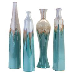 Azure Vases - set of 4  $59.80 ~ z gallerie