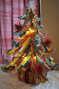 Picture of Junk mail Christmas tree