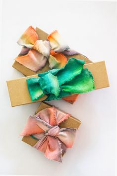 How to: Dip-Dyed Ribbons