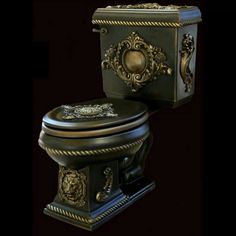 Art metal deco Steampunk toilet! Would be better if it had a chain...