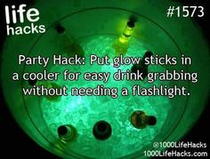 Glow sticks in cooler
