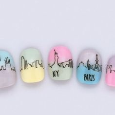 Gradient Nails, Neon Nails, Love Nails, Pretty Nails, How To Do Nails, My Nails, Cute Nail Art, Beautiful Nail Art, Paris Nails