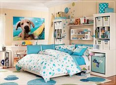 Bedroom , Room Decorating Ideas for Teenage Girls : Room Decorating Ideas For Teenage Girls Room For Teens Girl Blue Picture