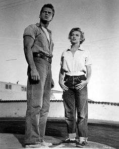 Marilyn Monroe and her co-star in a promotional shot for Clash By Night