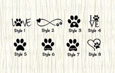 Love paw animal car decal dog love paw word decal paw infinity decal rescue decal adopt decal paw love decal gifts for animal lovers Dog Tattoos, Mini Tattoos, Cute Tattoos, Small Tattoos, Cute Animal Tattoos, Gangsta Tattoos, Family Tattoos, Tattoo Drawings, Tattoo Perro