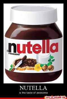 Nutellaaaaaaaa <3 and whatever you think goes along with it. I personally like pretzels. ^-^