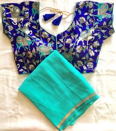 Readymade blouse with plain chiffon saree --DM us for more info-- #saree #designersaree #wedding #silk #traditional #partywear #tussar #indian #indianfashion #sari #bollywood #fashion #blouse #newcollections #fashion #shopping #Tamil #montreal #TM33 #indianfashiontraditional