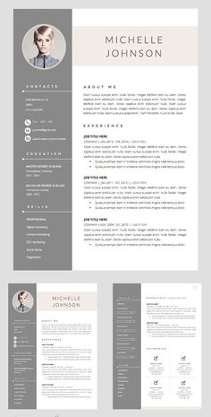 Resume Template + Cover Letter Word If you like this cv template. Check others on my CV template board :) Thanks for sharing! Cover Letter Template, Modern Resume Template, Cover Letter For Resume, Resume Template Free, Creative Resume Templates, Letter Templates, Cover Letter Design, Cv Template Student, Cv Design Template